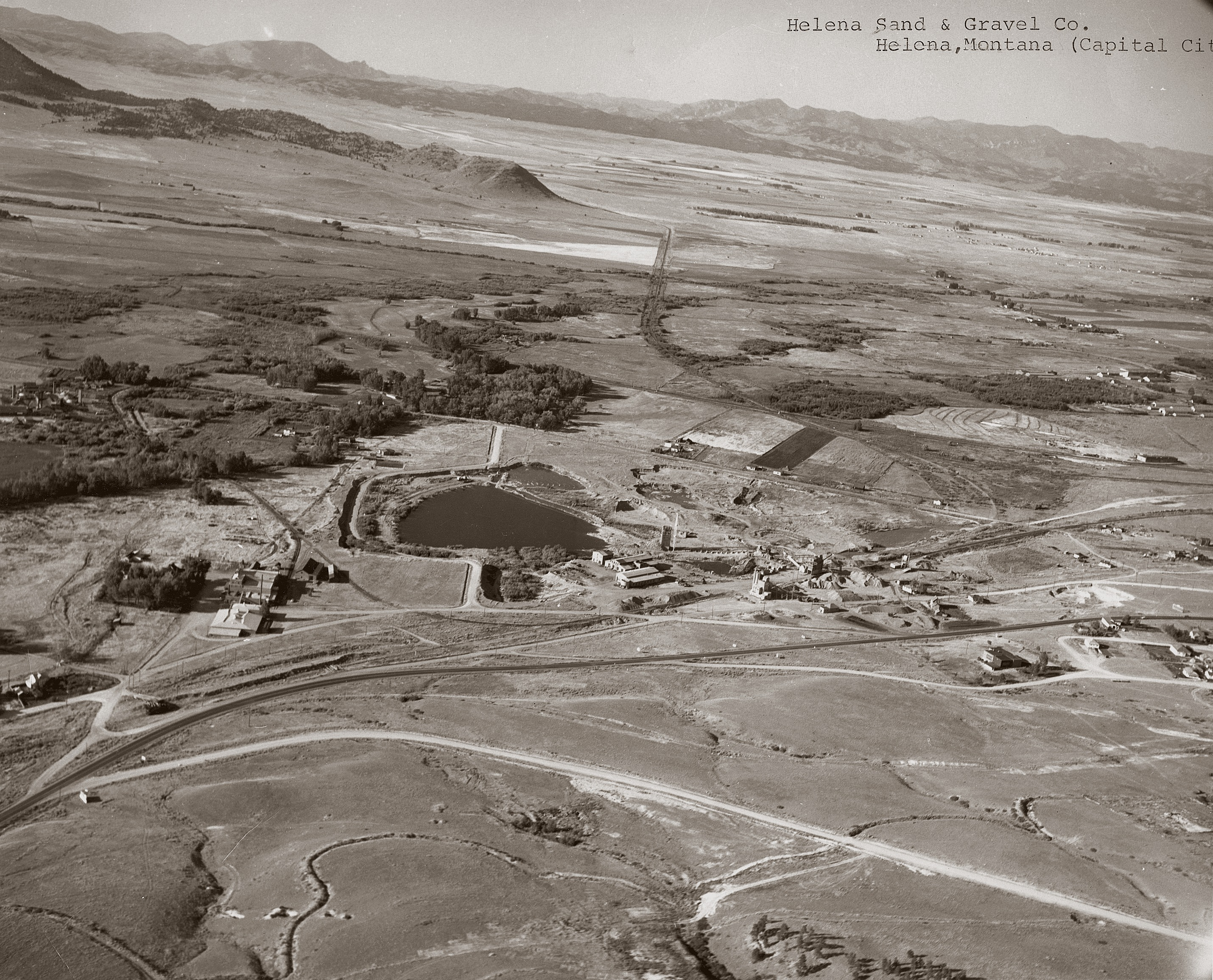 Helena sand and gravel aerial 1940s
