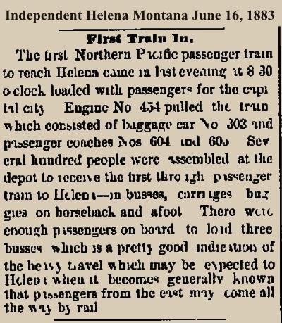 Regular Service Began June 15, 1883.